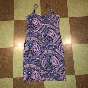 Urban Outfitters Dresses - Vtg UO purple paisley mini fitted dress sm